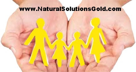 Gold Family in hands