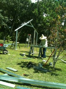 Beginning to Build the Metal Greenhouse