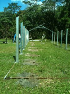 Further building of the metal greenhouse